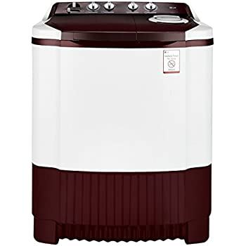 LG 6.8 kg Semi-Automatic Top Loading Washing Machine (P7853R3SA, Burgundy)