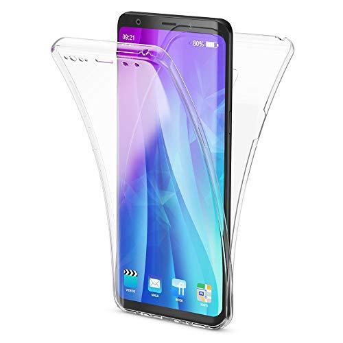 NALIA 360 Grad Handyhülle kompatibel mit Samsung Galaxy S9 Plus, Full Cover vorne hinten Doppel-Schutz Dünnes Ganzkörper Case Silikon Etui, Transparenter Displayschutz & Rückseite, Farbe:Transparent