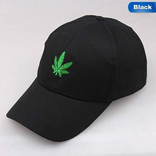 QWER Baseballmütze Stickerei-Blatt-Weiße Kappen-Unkraut-Hüte Für Mann-Frauen-Baumwoll-Hip Hop-Angepasste Baseballmützen -