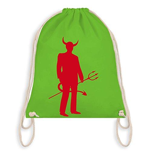Halloween - Teufel - Unisize - Hellgrün - WM110 - Turnbeutel & Gym Bag