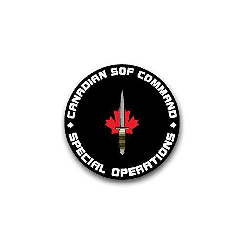 Aufkleber / Sticker - Cansofcom Canadian sof command special operations Kanada Teilstreitkraft kanadisches Militär Kanadische Spezial Einheit passend für VW Golf Polo GTI BMW 3er Mercedes Audi Opel Ford (7x7cm)#A1457