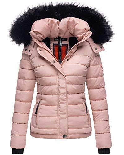 Navahoo warme Damen Winter Jacke Parka Mantel Stepp Kurzjacke gefüttert B301 (S, Rosa)