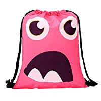 iHAZA Women Backpack Storage Bundle Rope Cute Pattern Shopping Drawstring Bag