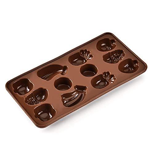lyward Silikon-Schokoladenform Mit Frucht-Küchen-Backform, 2Er-Pack 58 Chocolate Mold