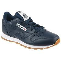 Reebok Unisex Kids Classic LTH Ar1312 Low-Top Sneakers, Blue (Collegiate Navy/Gum), 3 UK 3UK Child
