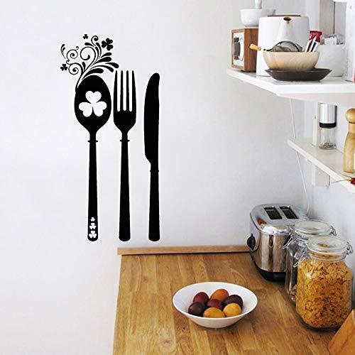XCSJX Aufkleber Blume Irish Besteck Küche Vinyl Wandaufkleber Aufkleber Wandbilder Wandkunst Tapete Küche Wohnkultur Haus Dekoration Irish Blumen