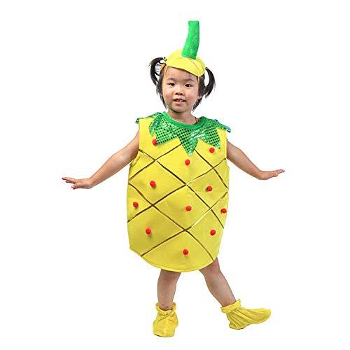 Kinder Obst Gemüse Kostüme Kinder Ananas Party Kleidung Kostüme für Halloween Cosplay Weihnachtsferien Kleinkind Jungen Mädchen (Ananas Halloween Kostüm)