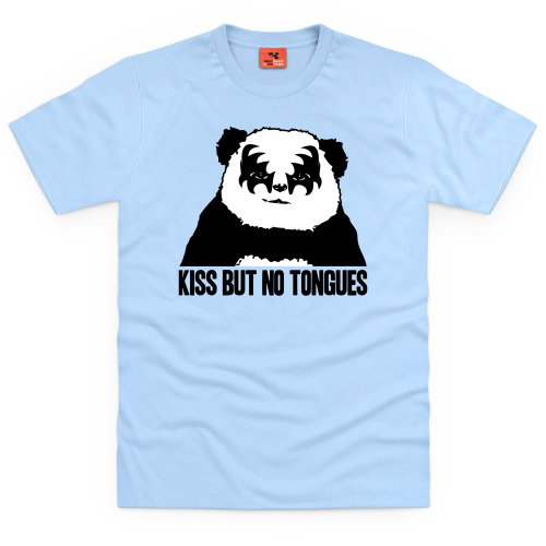 Kiss Panda T-Shirt, Herren Himmelblau