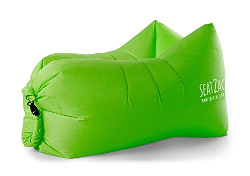 SeatZac SZ00004 Verde Interior y Exterior Rectángulo Silla Puff - Sil