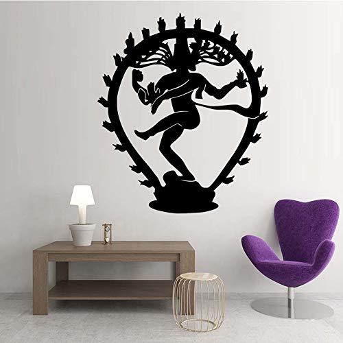 Die Hindu Gott Der Zerstörung Shiva Wandaufkleber Ausgangsdekor Indische Religion Hinduismus Wandtattoos Vinyl Wohnzimmer Dekoration 69CMX59CM