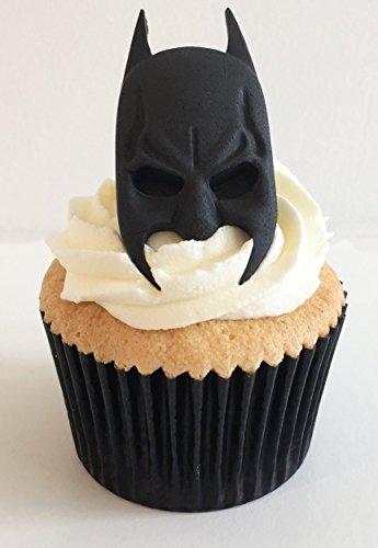 6 Handgemachte Kuchendekorationen aus Zucker: Batman / 6 Sugar Batman Heads