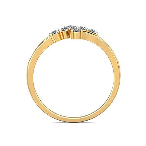 Belle Diamante 18K Gold and Diamond Ring