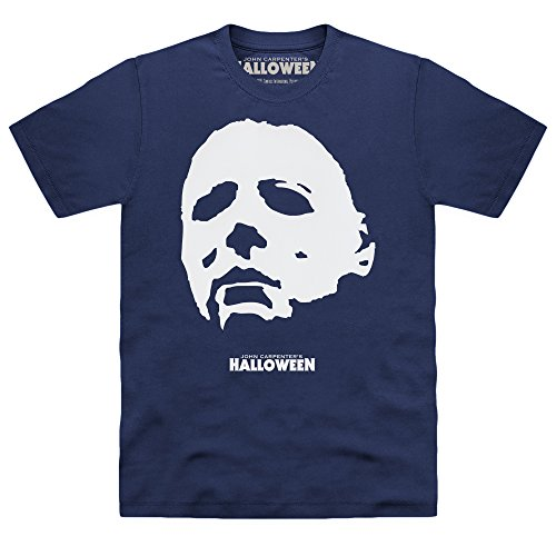 Official Halloween Camiseta Michael Myers Mask, Para hombre, Azul marino, M