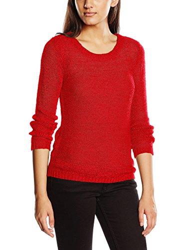 ONLY Damen Onlgeena XO L/S Pullover Knt Noos, Rot (Flame Scarlet), 34 (Herstellergröße: XS)