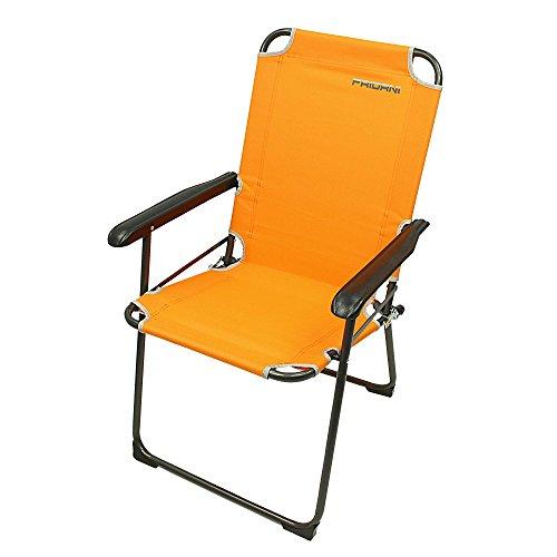 Fridani Campingstuhl GCO 920 Orange Klappstuhl mit Armlehnen max 110 kg bequem stabil klappbar (Fußball-sessel Und Hocker)