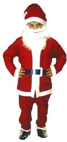 Costume de déguisement l'âge du père Noël d'enfants de 4-6 ans