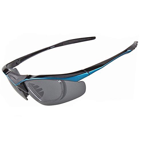 Sportbrillen Freizeit Wechselobjektive Polarisations-Brille,Blue