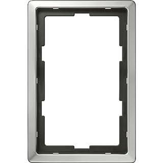 Merten 481860 ARTEC-Rahmen, 2fach ohne Mittelsteg, aluminium