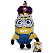 Bob Minion Rey 25cm Muñeco Peluche Gru Mi Villano Favorito Pelicula Amarillo Gafas 3D de Plastico Corona Minions