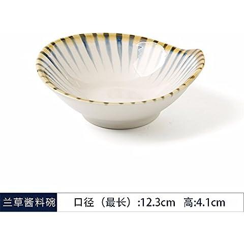 Spada di Lam creative Nouveau giapponese sauce hot pot vaso recipiente di stagionatura coppa di frutta stoviglie orchidee, - Forcella Coppa