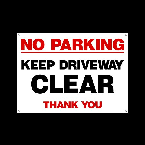 no-parking-keep-driveway-clear-plastic-sign-with-4-pre-drilled-holes-private-property-parking-clampi