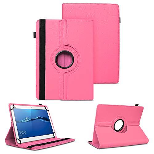 NAUC Tablet Tasche für Huawei Mediapad X2 Hülle Schutzhülle Cover Schutz Case Drehbar, Farben:Pink