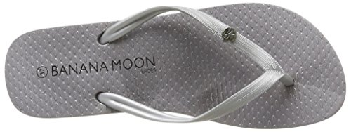 Banana Moon Beason, Tongs femme Gris (Acier)