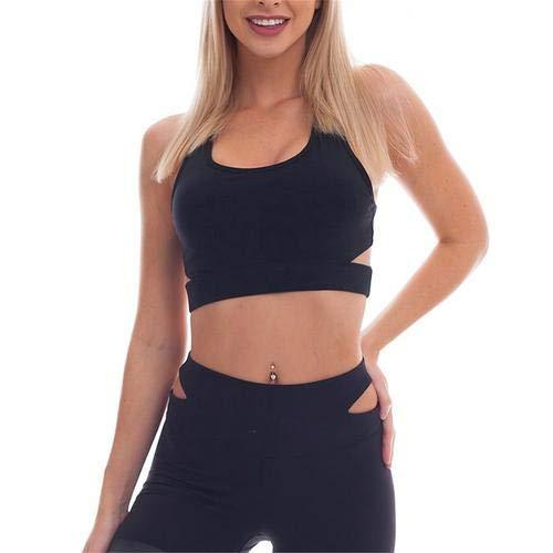 Prom-near Frauen Yoga Sets Gym Elastische Running Sport Anzug Fitness Kleidung Training Sport Tragen Sport Bra + Pant (Fitness-kleidung Für Frauen)