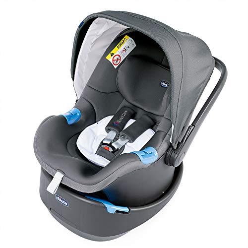 Chicco Oasys Up BebèCare Seggiolino Auto con Dispositivo Anti-abbandono Integrato, 0-6 kg, Gruppo 0+, Cool Grey