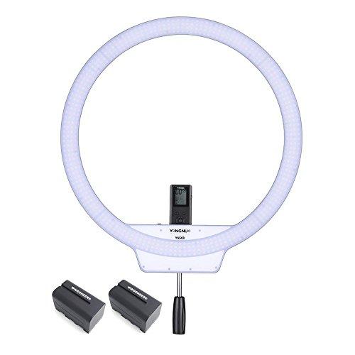 YONGNUO YN608 3200K ~ 5500K Wireless Ring SMD Video Licht mit 2PCS WINGONEER NP-F770 Akku und Ladegerät -