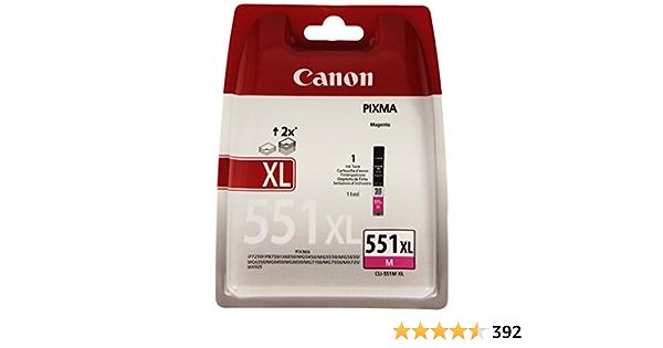 Canon Cli 551 Xl M Druckertinte Magenta Hohe Reichweite 11 Ml Für Pixma Tintenstrahldrucker Original Bürobedarf Schreibwaren