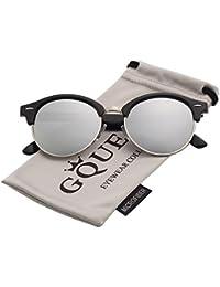 GQUEEN Occhiali da Sole Bordo in Corno Mezza Montatura Polarizzati GQO6