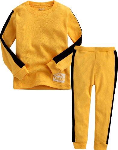 Vaenait baby [FreeShipping] 1-7 Years Boys 100% Cotton Pyjama Sleepwear Set Bruce Lee
