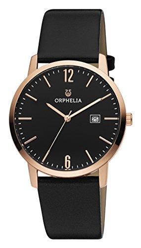 Orphelia Damen-Armbanduhr Longline Analog Quarz Leder Longline Leder