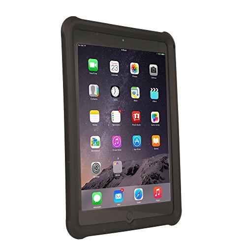 TECHGEAR Schutzhülle für iPad Air 2 (9,7 Zoll) [Kinderfreundlich] Leichtes Koffer Silikon Soft Shell Anti-Rutsch-Shockproof verstärkte Ecken + Displayschutzfolie, hülle für iPad Air 2 (9,7) -Schwarz