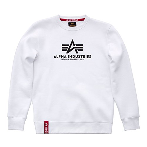 Alpha Industries Basic Sweatshirt Weiß M