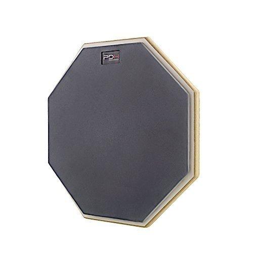 Übungspad Schlagzeug 12 Zoll für Anfänger einseitig Spezialgummi-Oberfläche Gewinde M8