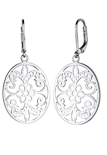 Elli Damen Schmuck Echtschmuck Ohrringe Ohrhänger Ornament Cut Out Sterling Silber 925