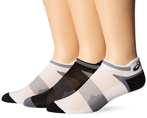 ASICS Unisex Quick Lyte Cushion Einzel Tab Socken 3er Pack) - Weiß/schwarz, L (Socken 3pk Tab)