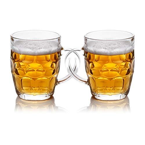 KUQIQI Bierkrüge, Bierkrüge, Bierglaswaren, Bierkrug, Bierkrüge, Klassische Bierkrüge, Kristallkrüge, kreative Bierkrüge, Saftbecher, Teetassen, 500 ml, Anzüge (2 Packungen) Pilsner Becher-set
