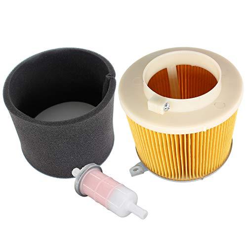AISEN Filtre à air avec filtre à essence pour Kawasaki Mule SX 500 520 550 600 610 2500 2510 2520 Remplace 11029-1004 49019-1055