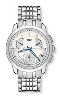 Swatch IRONY CHRONO RETROGRADE - Reloj de caballero de cuarzo, correa de acero inoxidable color plata de Swatch