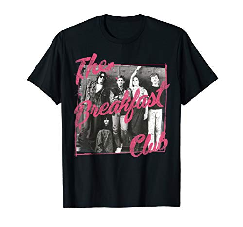 Breakfast Club Pink Text Group Photograph T-Shirt Pink Breakfast