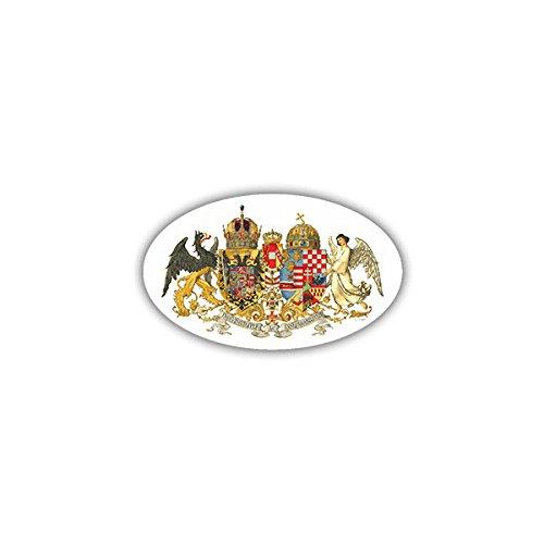Aufkleber / Sticker - Österreich Ungarn Monarchie Kaisertum Kaiser Reich Wappen Emblem 8x5cm #A1689 Reich Bund
