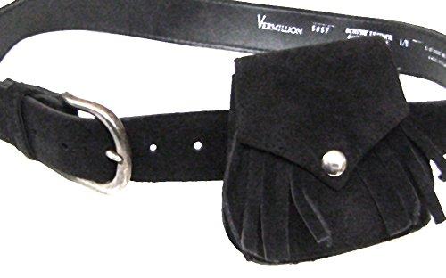 Modestone Western Women's Suede Purse/Belt Combo Black (Ariat ' Caps Für Frauen)