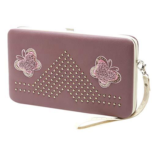 Bfmyxgs Stilvolle Walle für Frauen Mädchen Weibliche Schmetterling Lange Brieftasche Lunchbox Brieftasche Clutch Bag Handytasche Geldbörse Handytasche Clutch Bag Geldbörse Handtasche