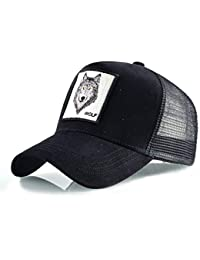 Bros la Granja Animal Trucker Snapback Gorra de béisbol Cap Black Wolf