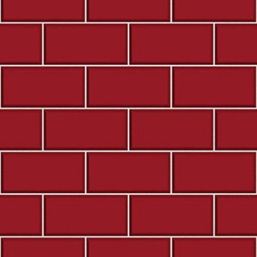 Charming BHF FD40138 Ceramica Subway Tile Kitchen And Bathroom Wallpaper   Red