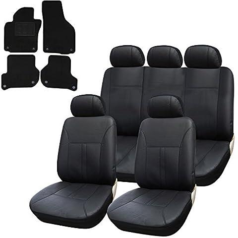 WOLTU AS7290+AM7172p Auto Sitzbezüge Sitzbezug Set, mit Fußmatten, für VW Golf 5 / 6, Jetta III, Scirocco