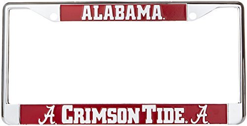 huge discount aba08 c59f6 NCAA Alabama Crimson Tide Metal Car Tag Frame, One Size, Multicolor by Game  Day